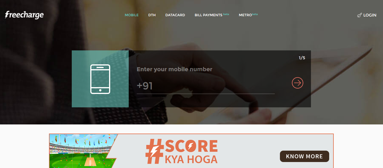 Best recharge website in India - Freecharge Offers