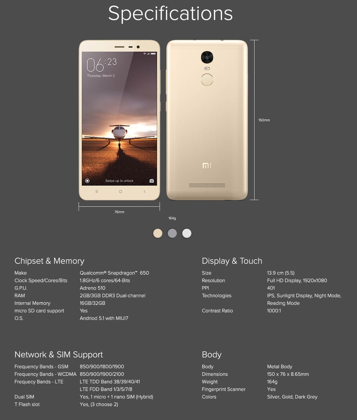 amazon-sale-redmi-note-3-specifications-and-features-savemyrupee