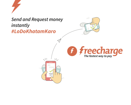Freecharge request money-split bill